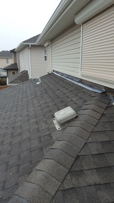 Covered deck roof addition roofing