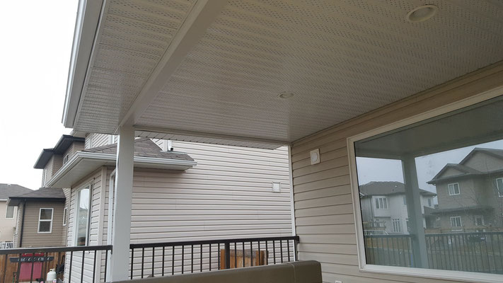 Covered deck roof addition soffit fascia metal capping