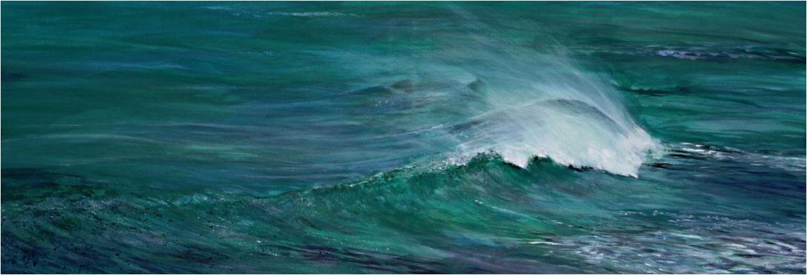 Reite DEINE Welle - Acryl auf Leinwand 150x50 cm  -  CHF 4000