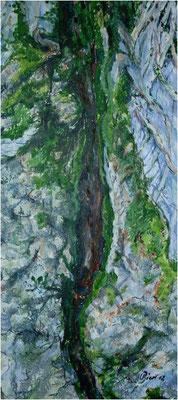 Spuren des Lebens - Pappel - Acryl auf Leinwand 30x60 cm  -  CHF 1500