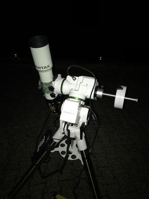 Pentax 75 SDHF auf AZEQ-5