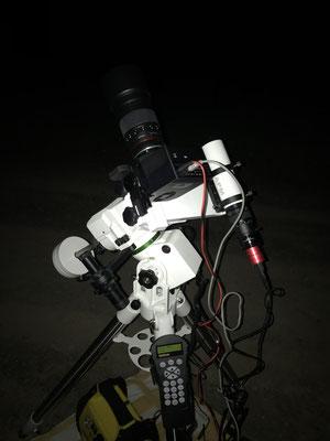 Moravian mit Walimex Pro 135mm und Guidingscope auf AZEQ-5