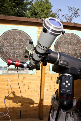 Pentax 75 SDHF mit D-ERF Filter und Daystar Quark Prominence