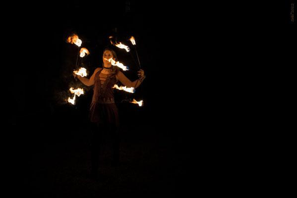 Feuerfächer Feuershow