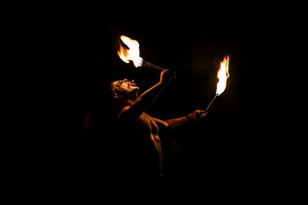 Feuerschlucken Feuershow
