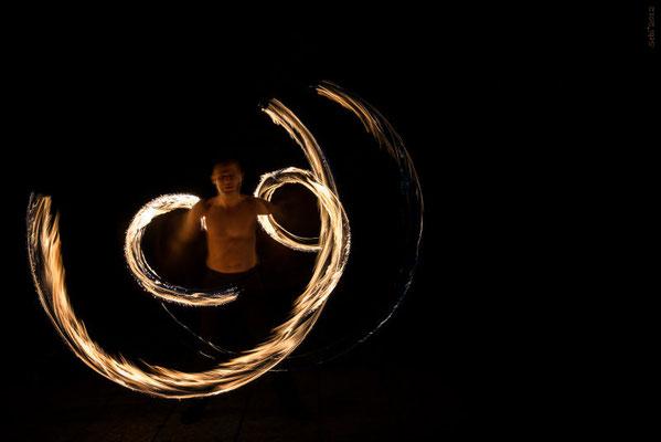Feuerstäbe Feuershow