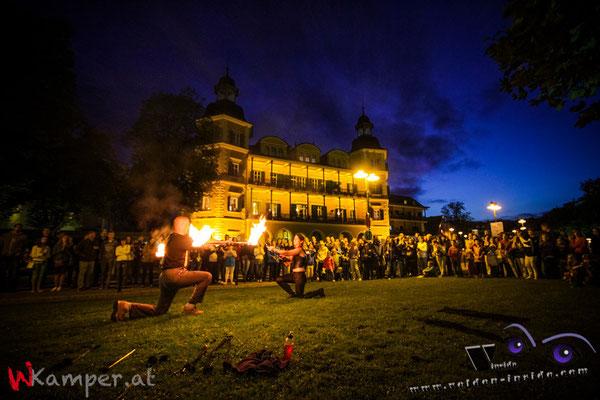 Feuershow Schloßhotel Velden