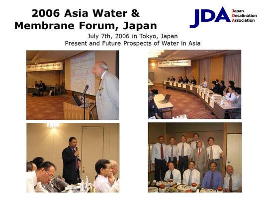 2006 Asia Water & Membrane Forum, Japan