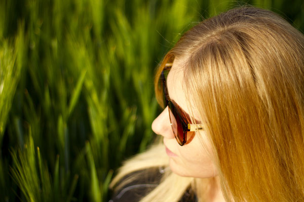 NOVS Sonnenbrille online Damen und Herren - Brille Bambus Holz rund braun VISION