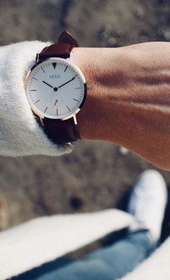 NOVS NOVA Uhr - Armbanduhr - brown silber - braun silber