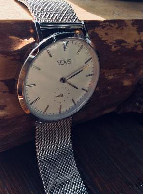 NOVS Uhr - Armbanduhr - Damen - NOVA silver mesh - silber