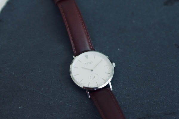 NOVS Uhr - Armbanduhr - Damen - NOVA silver brown - silber braun