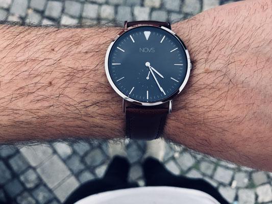 NOVS Uhr - Armbanduhr - Herren - NOVO silver braun - silber braun