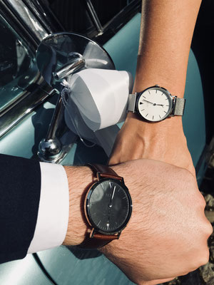 NOVS Uhr - Armbanduhr - Damen - NOVA - NOVO - silver - Herren - braun schwarz