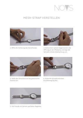 Mesh-Strap-Größenverstellbar - So verstellst Du Dein Mesh-Armband