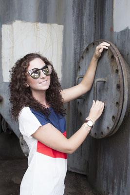 NOVS Sonnenbrille online Damen und Herren - Brille Bambus Holz rund rosé VISION - Armbanduhr NOVA