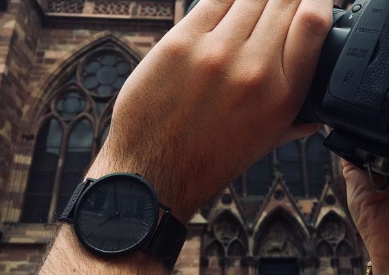 NOVS Uhr - Armbanduhr - Herren - NOVO all black - schwarz