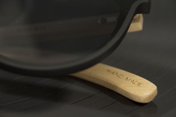 NOVS Sonnenbrille online Damen und Herren - Brille Bambus Holz rund schwarz VISION