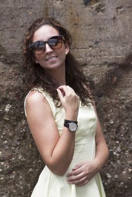 NOVS Uhr - Armbanduhr - Damen - NOVA silver brown - silber braun - Sonnenbrille VISION - braun