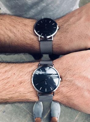 NOVS Uhr - Armbanduhr - Herren - NOVO silver mesh - silber