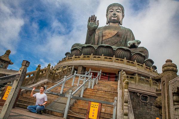 Hong Kong, île de Lantau (大嶼山). Bouddha Tian Tan (天壇大佛).