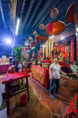 Hong Kong, île de Lantau (大嶼山). Village de pêcheurs Tai O (大澳). Temple Kwan Tai (關帝古廟).