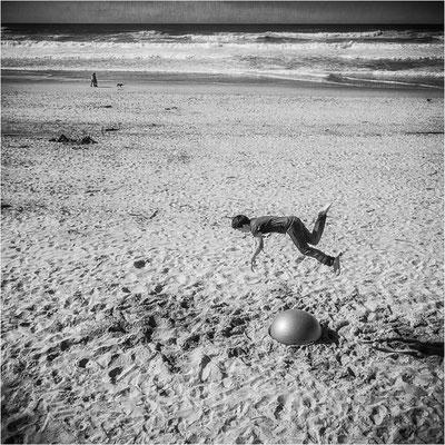 Sur la plage de Donostia le 27 mars 2016