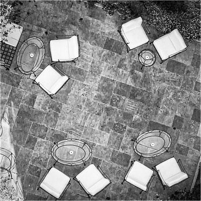 Saint-Émilion: terrasse de l'hostellerie de Plaisance