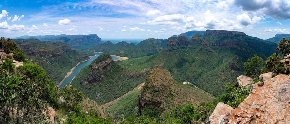 Panorama von der linken Seite des Aussichtspunktes
