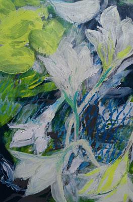 Weiße Ama II, 40 x 60 cm, Acryl auf Bütten Papier