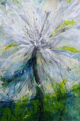 Weiße Ama IIII, 40 x 60 cm, Acryl auf Bütten Papier