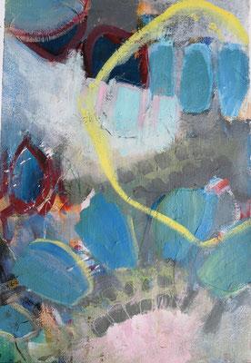 Free and free I, 40 x 60 cm, Acryl auf Bütten Papier