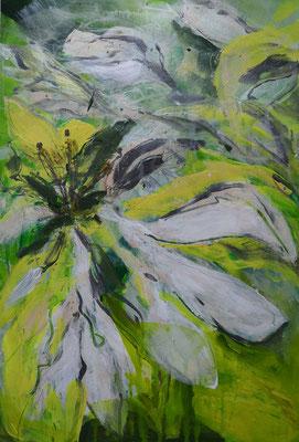Weiße Ama, I 40 x 60 cm, Acryl auf Bütten