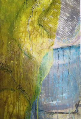 Free and free IIII, 40 x 60 cm, Acryl auf Bütten Papier