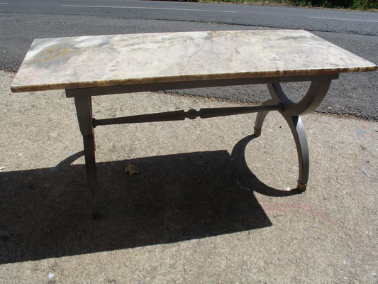 Table basse de style Empire vers 1950 relookée