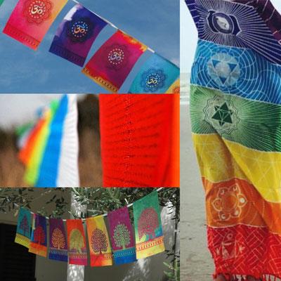 drapeaux de prière tibetain - spirituels