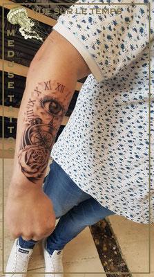 Vue du temps -  Méduse Tattoo en Belgique