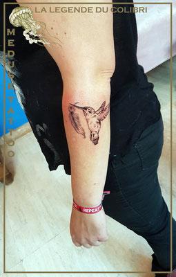 La légende du colibri - Méduse tattoo en Belgique