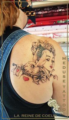 La reine de coeur - Cover - Méduse Tattoo en Belgique
