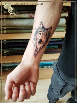 Gilbert le loup - Méduse Tattoo en Belgique