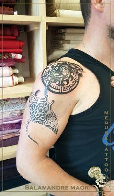 Tatouage Maori  - Méduse Tatto en Belgique