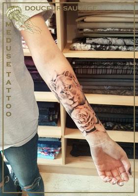 Douceur sauvage  - Méduse Tattoo en Belgique
