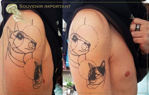 Tatouage géométrique  - Méduse Tattoo en Belgique