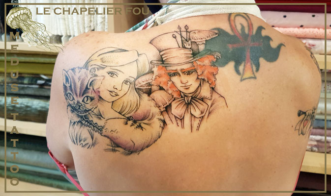 Le chapelier fou - Méduse Tattoo en Belgique
