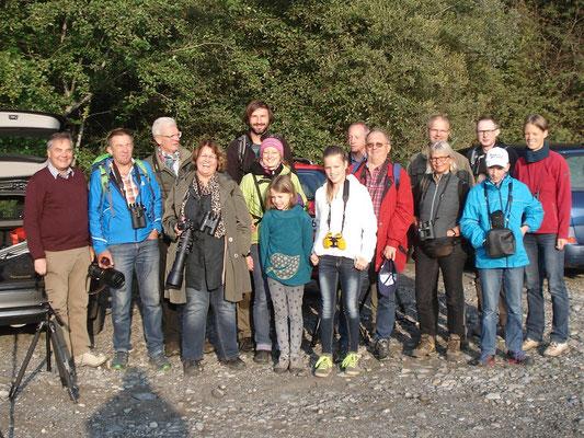 ASO-Gruppe am linken Rheindamm (Foto: Pit Brützel)