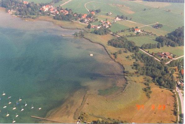 Bucht von St. Heinrich  (Luftbild: H. Guckelsberger/LBV)