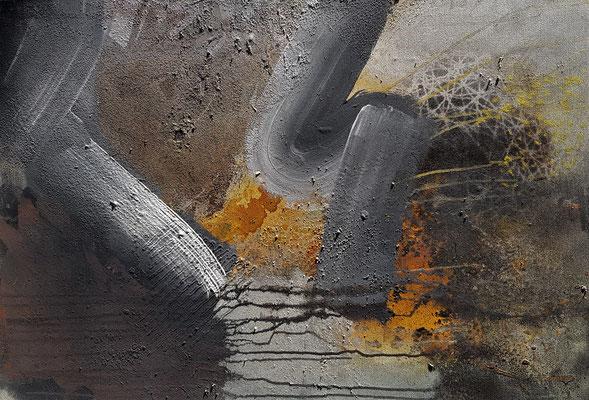 Wohin ,Acryl auf Lwd. 70 x 100, 2020