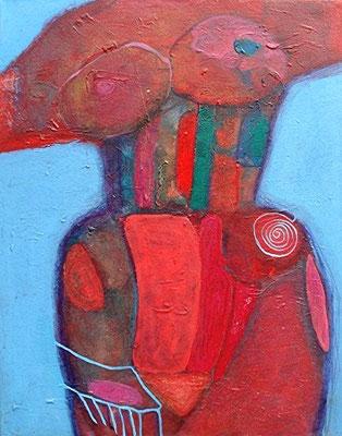 Das Mieder, Acryl auf Lwd.  70 x 55, 2008
