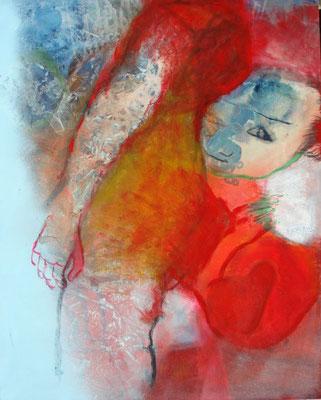 noch nicht ganz bereit ,Acryl-Pigmente-Mischtechnik auf Lwd, 80 x 100,2010 (2)
