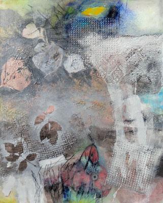 Frühnebel, Acryl-Mischtechnik, Lwd. 100 x 80, übermalt 2013